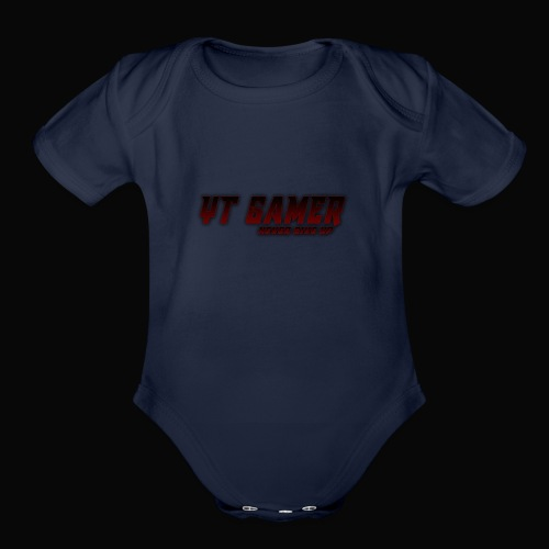 never give - Organic Short Sleeve Baby Bodysuit