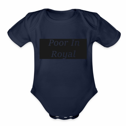 Poor In Royal Shirts - Organic Short Sleeve Baby Bodysuit