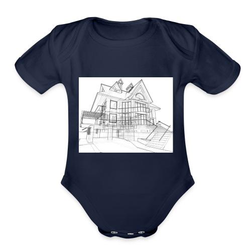 House - Organic Short Sleeve Baby Bodysuit