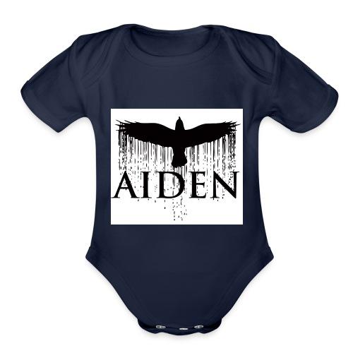 Aiden/get some merch - Organic Short Sleeve Baby Bodysuit