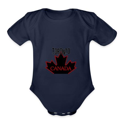 TORONTO CANADA - Organic Short Sleeve Baby Bodysuit