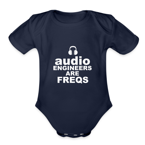 Audio Freqs - Organic Short Sleeve Baby Bodysuit