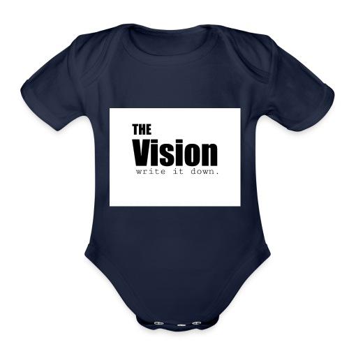 the_vision - Organic Short Sleeve Baby Bodysuit