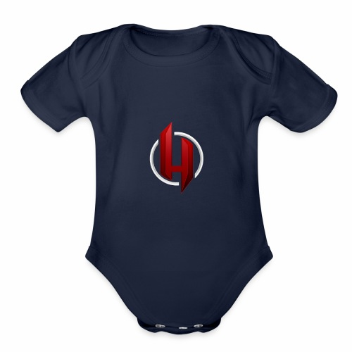 harsh ch logo for cothes - Organic Short Sleeve Baby Bodysuit