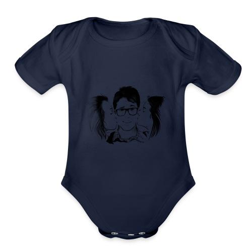 virginlogononame fw - Organic Short Sleeve Baby Bodysuit