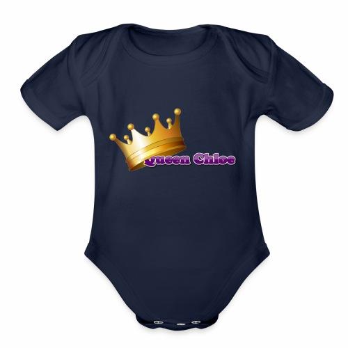 Queen Chloe - Organic Short Sleeve Baby Bodysuit