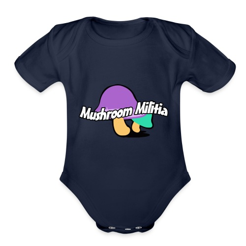 MM text logo - Organic Short Sleeve Baby Bodysuit