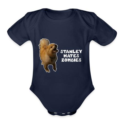 Stanley Hates Zombies - Organic Short Sleeve Baby Bodysuit