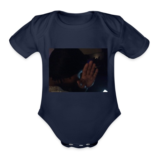 Out my face - Organic Short Sleeve Baby Bodysuit