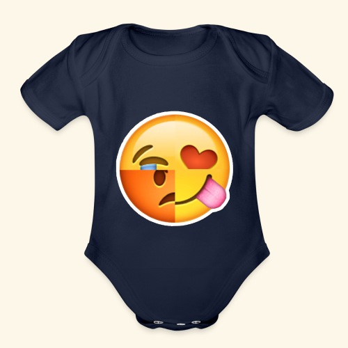 E Tees , Unique , Love , Cry, angry - Organic Short Sleeve Baby Bodysuit