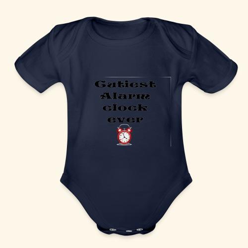 baby alarm - Organic Short Sleeve Baby Bodysuit