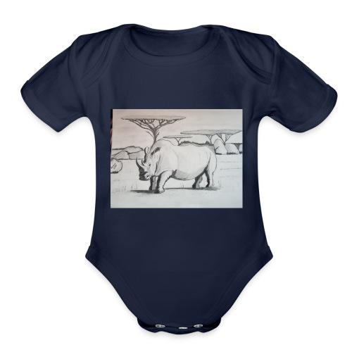 Rhino - Organic Short Sleeve Baby Bodysuit