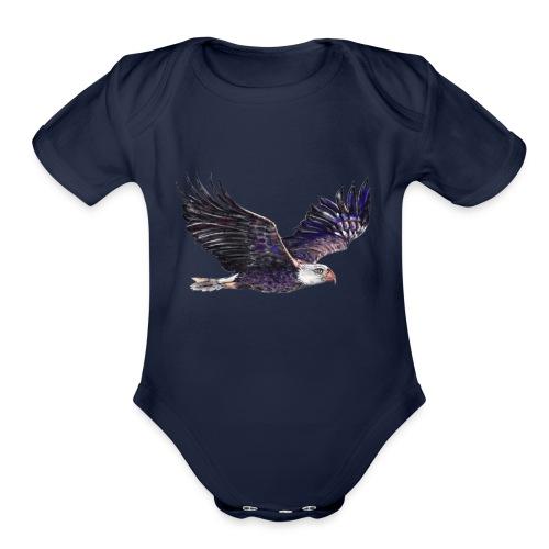 eagle - Organic Short Sleeve Baby Bodysuit