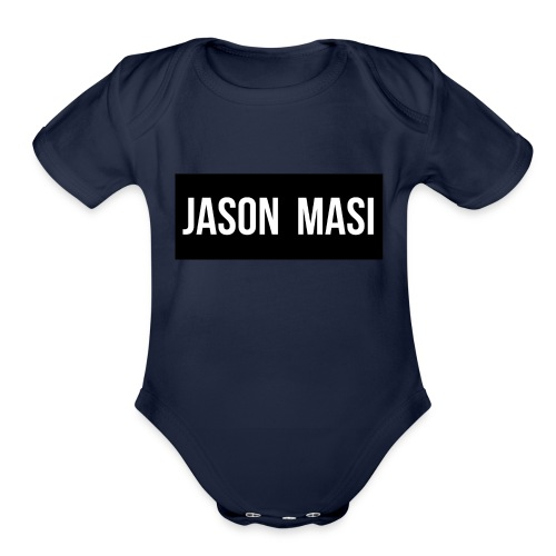 jason-masi-name - Organic Short Sleeve Baby Bodysuit