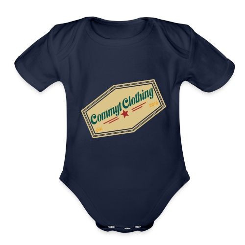 Commyt design 2 - Organic Short Sleeve Baby Bodysuit