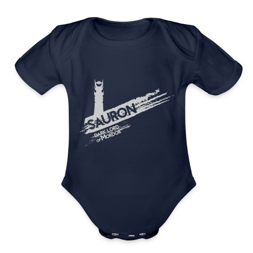 Tower of Sauron - Organic Short Sleeve Baby Bodysuit