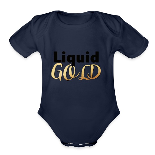 LIQUID GOLD - Organic Short Sleeve Baby Bodysuit