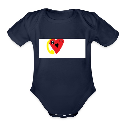 love heat - Organic Short Sleeve Baby Bodysuit