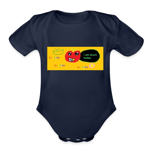 pechy vs apple - Organic Short Sleeve Baby Bodysuit