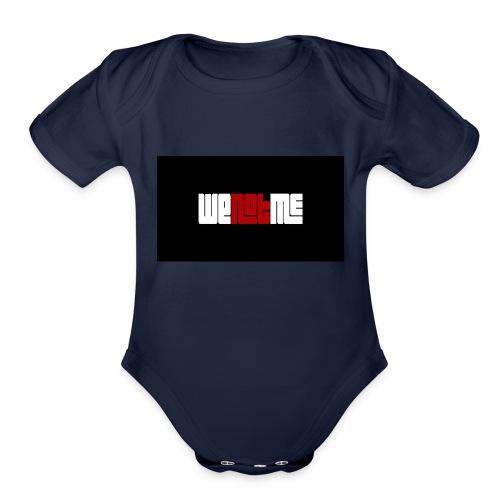 WE NOT ME CLASSIC LOGO - Organic Short Sleeve Baby Bodysuit