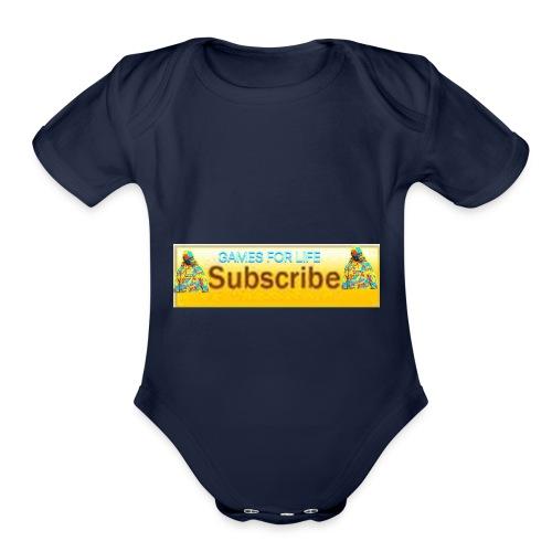 GAMES FOR LIFE - Organic Short Sleeve Baby Bodysuit