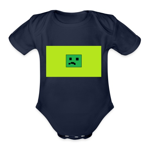 Creeper Head YT fan merch - Organic Short Sleeve Baby Bodysuit