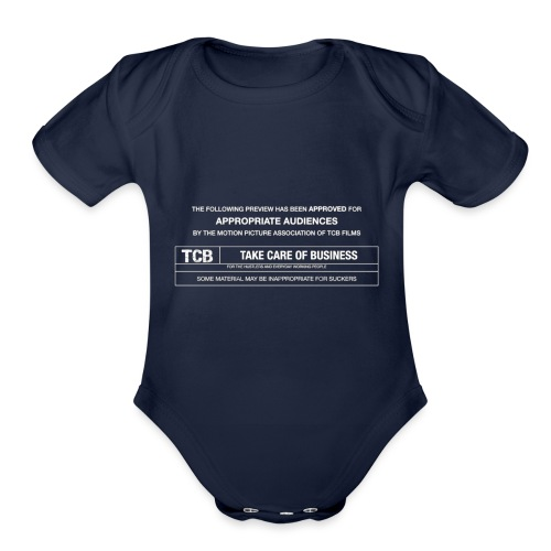 TCB Films Disclamer - Organic Short Sleeve Baby Bodysuit