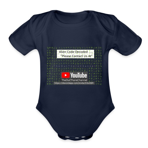AlienCode v3 TransparentBG2019 - Organic Short Sleeve Baby Bodysuit