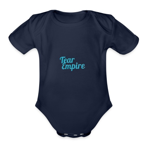 Tear empire logo - Organic Short Sleeve Baby Bodysuit