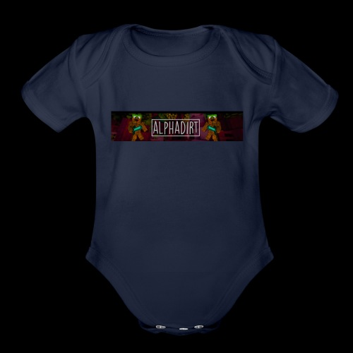 AlphaDirtBanner - Organic Short Sleeve Baby Bodysuit