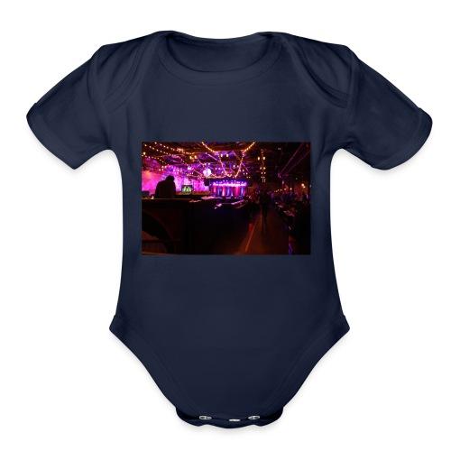 brooklyn bowl - Organic Short Sleeve Baby Bodysuit