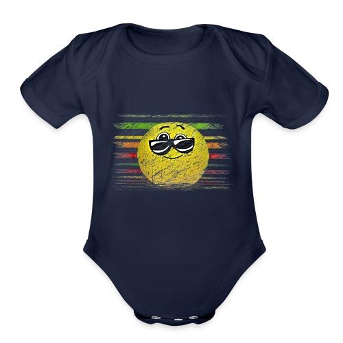 KEEP COOL SMILEY - Organic Short Sleeve Baby Bodysuit