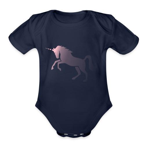UNICORN1 - Organic Short Sleeve Baby Bodysuit