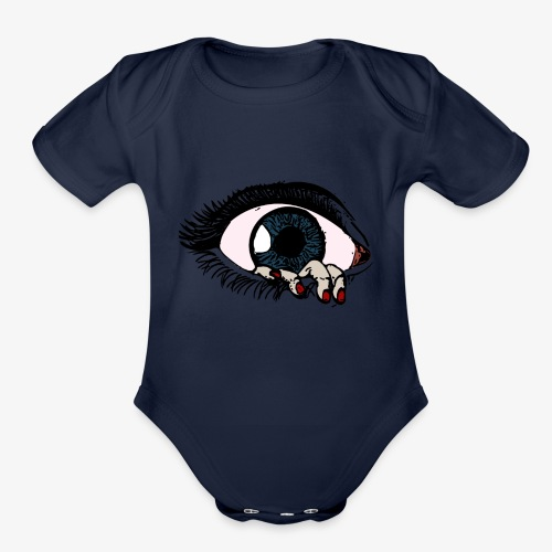 eye - Organic Short Sleeve Baby Bodysuit