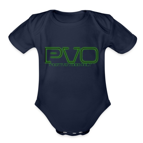 Positive Vibes Only - Organic Short Sleeve Baby Bodysuit