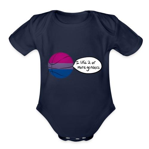 Bible/Bi-Ball Pun (For Those Who Like to Explain) - Organic Short Sleeve Baby Bodysuit