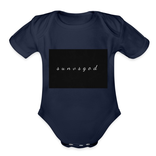 sunvsgod merch - Organic Short Sleeve Baby Bodysuit
