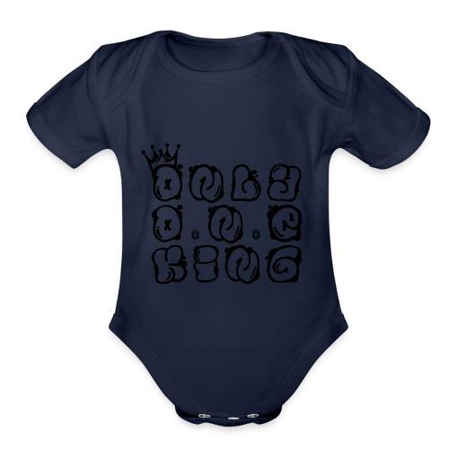 ONLY ONE KING - Organic Short Sleeve Baby Bodysuit