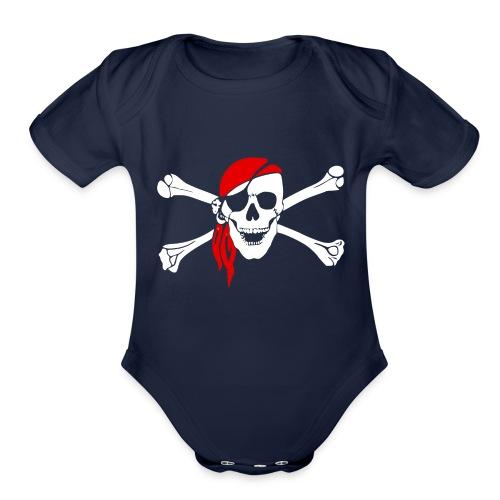 pirate 47705 - Organic Short Sleeve Baby Bodysuit