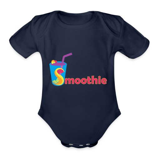 Miam2 png - Organic Short Sleeve Baby Bodysuit