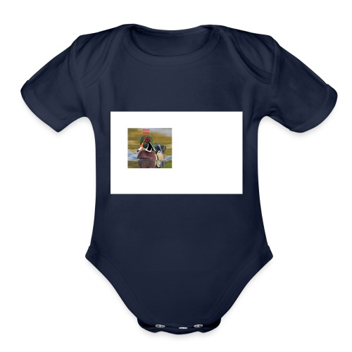 duck_life - Organic Short Sleeve Baby Bodysuit
