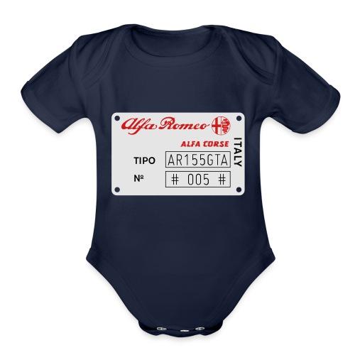 TIPO AR155GTA - Organic Short Sleeve Baby Bodysuit