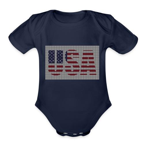 USA - Organic Short Sleeve Baby Bodysuit
