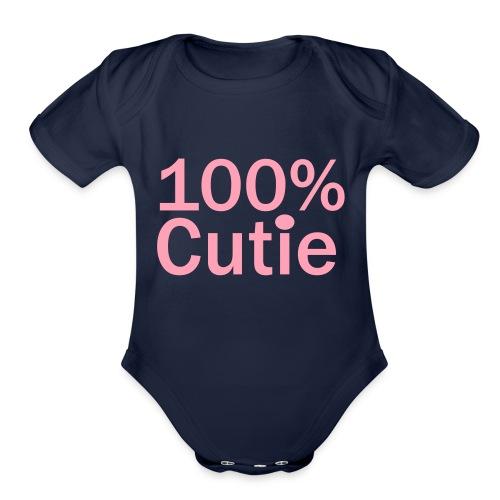 100cutie - Organic Short Sleeve Baby Bodysuit
