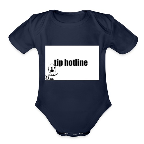 Tip hotline Phone Case - Organic Short Sleeve Baby Bodysuit