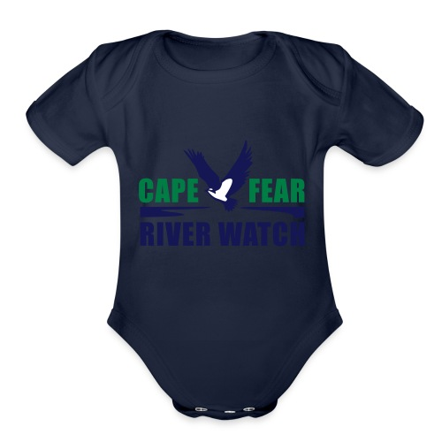 Cape Fear River Watch Logo - Organic Short Sleeve Baby Bodysuit