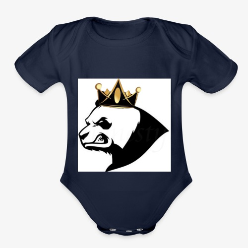 Panda squad hoodie - Organic Short Sleeve Baby Bodysuit