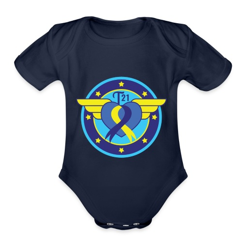 Down syndrome Hero - Organic Short Sleeve Baby Bodysuit