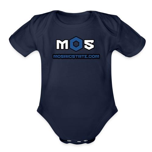Mosaic State - Organic Short Sleeve Baby Bodysuit