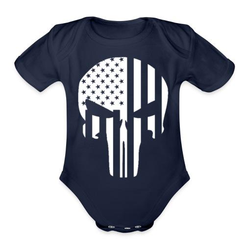 punisher - Organic Short Sleeve Baby Bodysuit